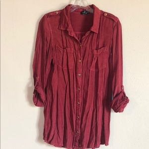Cotton Express, Long Sleeve, Button Down, Size S